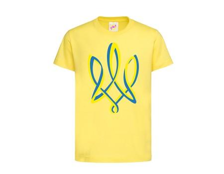 Футболка желтая Тризуб сине-желтый c143