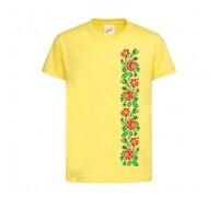 Футболка жовта Троянди c148