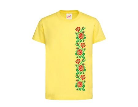Футболка желтая Розы c148