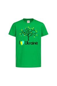 Футболка зеленая Дерево c151