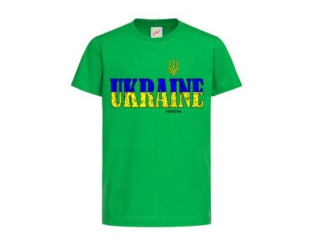 Футболка зеленая Украина c150