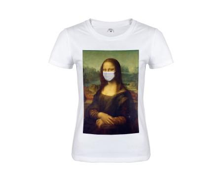 Футболка белая Мона Лиза w155