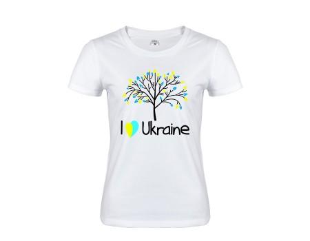 Футболка біла Україна w142