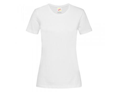 Футболка жіноча з круглим вирізом біла w100