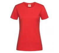 Футболка женская с круглым вырезом красная w104