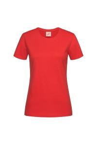 Футболка жіноча з круглим вирізом червона w104