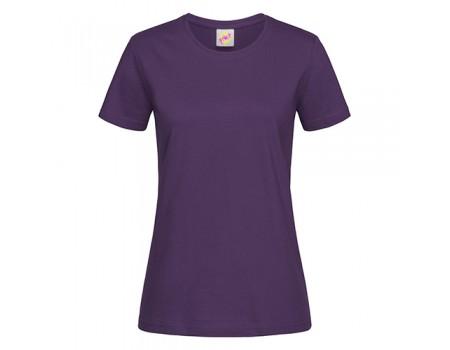 Футболка женская с круглым вырезом фиолетовая w111