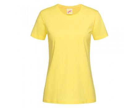 Футболка женская с круглым вырезом лимонная w118