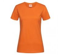 Футболка женская с круглым вырезом оранжевая w106