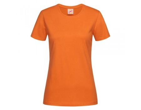 Футболка жіноча з круглим вирізом помаранчева w106