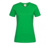 Футболка женская с круглым вырезом зеленый w112