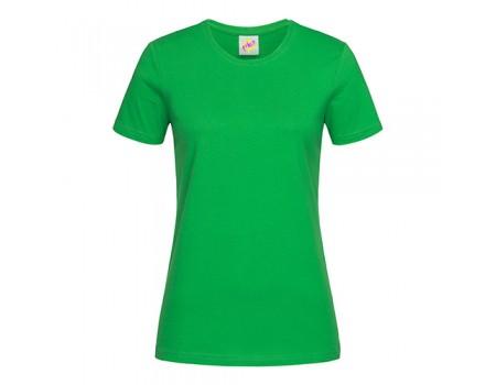 Футболка жіноча з круглим вирізом зелений w112