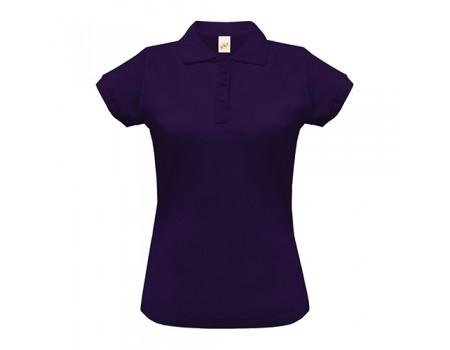 Поло женское с манжетами на рукавах фиолетовое w251