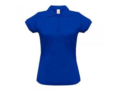 Поло жіноче з манжетами на рукавах синє w243