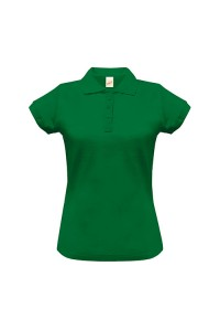 Поло женское с манжетами на рукавах зеленые w248