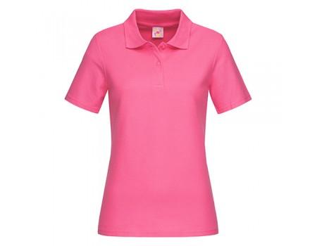 Поло женское розовое w208