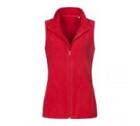Флисовая безрукавка женская красная w353