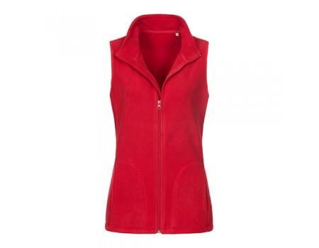 Флісова безрукавка жіноча червона w353