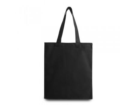 Еко сумка з саржі чорна EC107