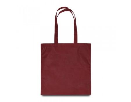Эко сумка с спандбону бордовая EC118