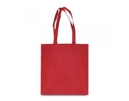 Еко сумка з спандбону червона  EC115