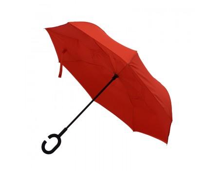 Зонт-трость обратное сложение механический